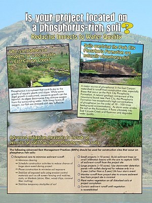 Flyer: Is your project located on  a phosphorus-rich soil?